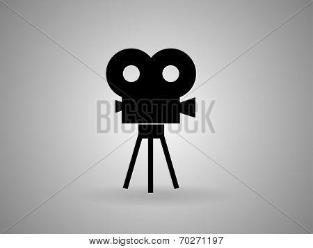 Flat icon of cinema
