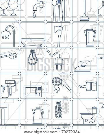 The background, tools, household goods