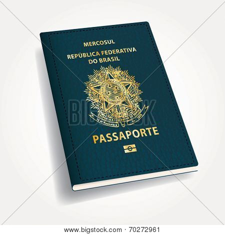 vector Brazilian passport