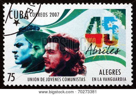 Postage Stamp Cuba 2007 Union Of Young Communists