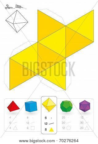 Paper Model Octahedron