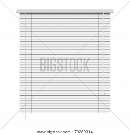 realistic home related blinds isolated on white