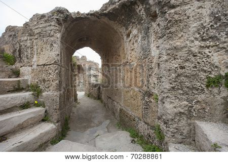 Archway at Antonine Thermae; Tunis; Tunisia