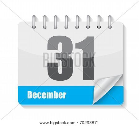 Flat Calendar Icon for Applications Vector Illustration