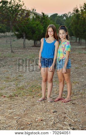 Two Best Friend Girls Hugging