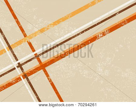 Retro background with abstract lines