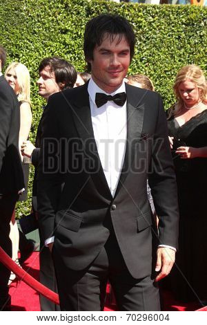 LOS ANGELES - AUG 16:  Ian Somerhalder at the 2014 Creative Emmy Awards - Arrivals at Nokia Theater on August 16, 2014 in Los Angeles, CA