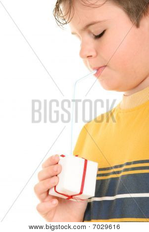 Boy Drinks From Gift Through Tubule