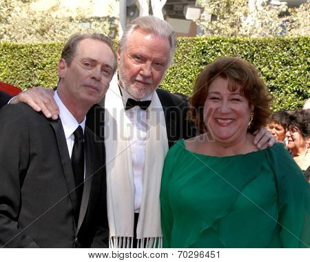 LOS ANGELES - AUG 16:  Steve Buscemi, Jon Voight, Margo Martindale at the 2014 Creative Emmy Awards - Arrivals at Nokia Theater on August 16, 2014 in Los Angeles, CA