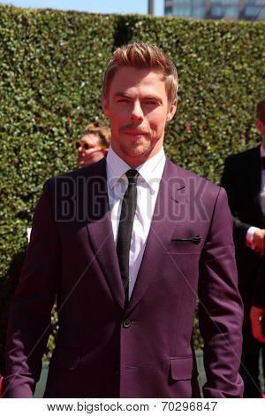 LOS ANGELES - AUG 16:  Derek Hough at the 2014 Creative Emmy Awards - Arrivals at Nokia Theater on August 16, 2014 in Los Angeles, CA