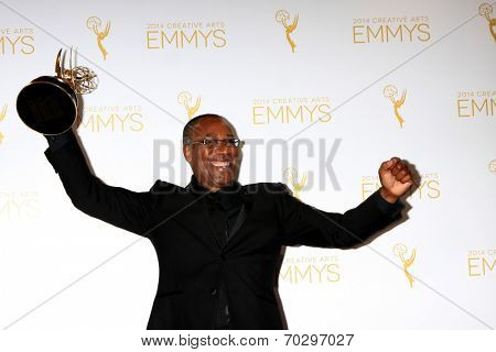 LOS ANGELES - AUG 16:  Joe Morton at the 2014 Creative Emmy Awards - Press Room at Nokia Theater on August 16, 2014 in Los Angeles, CA