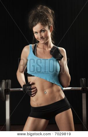 Attractive Female Fitness Model