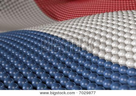 Welle von Kugeln in den Farben der Niederlande