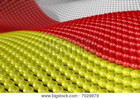 Welle von Kugeln in den Farben der Süd-Ossetien