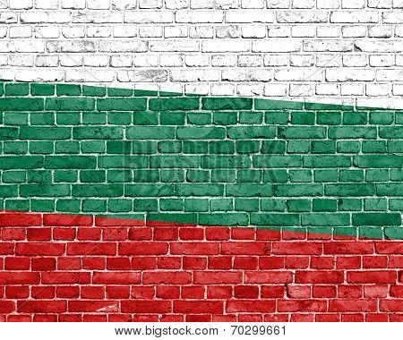 Grunge Bulgaria Flag With Stains