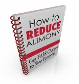 stock photo of reduce  - How to Reduce Alimony words as title on a book offering legal advice - JPG