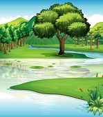pic of landforms  - Illustration of the land and water resources - JPG