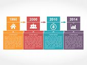 pic of time-piece  - Infographics timeline design template with place for dates - JPG