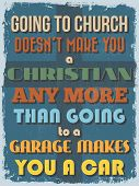 picture of christianity  - Retro Vintage Motivational Quote Poster - JPG