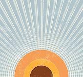 foto of starburst  - Retro starburst background - JPG
