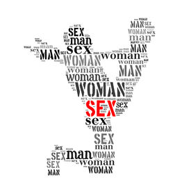 foto of kamasutra  - Woman man sex word cloud isolated on white background - JPG
