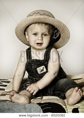 Boy and Straw Hat