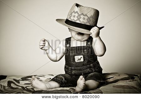Boy Wearing a Hat