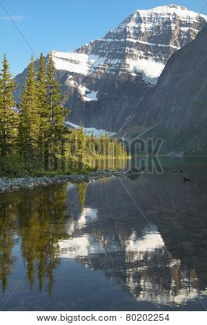 Canadian Landscape With Mount Edith Cavell. Jasper. Alberta. Canada