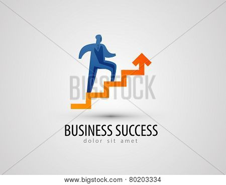 business vector logo design template. success or progress icon.
