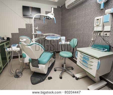 Equipment In A Dentist Surgery