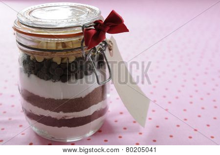 jar of cookie ingredients