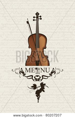 Violin and cutlery