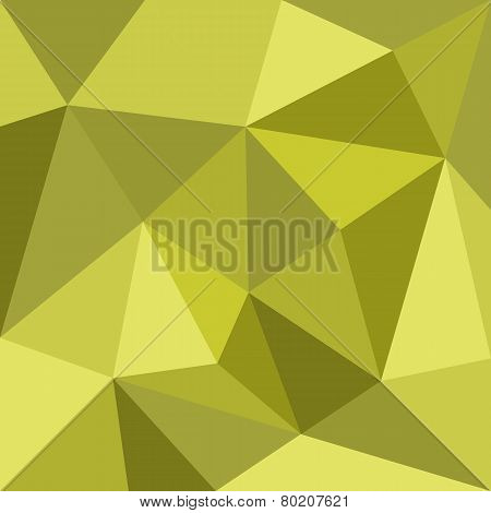 Green triangle vector background or pattern. Flat spring or summer surface wrapping geometric mosaic