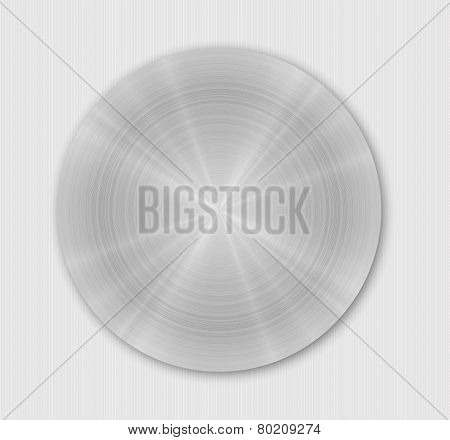 Rounded Brushed Metal Plate