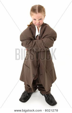 Child In Oversized Suit
