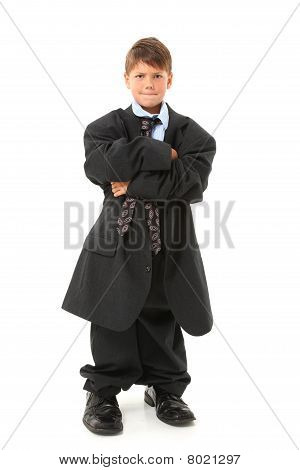 Adorable Boy In Suit
