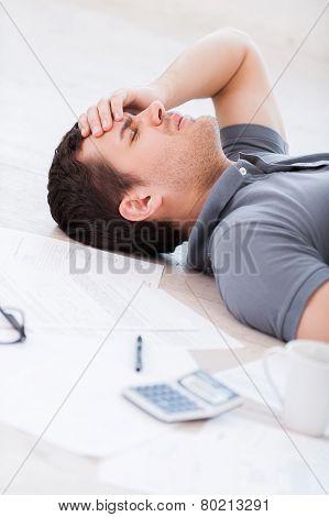 Overworked Man.