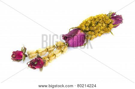 Garland Of Sereisolated On White Background