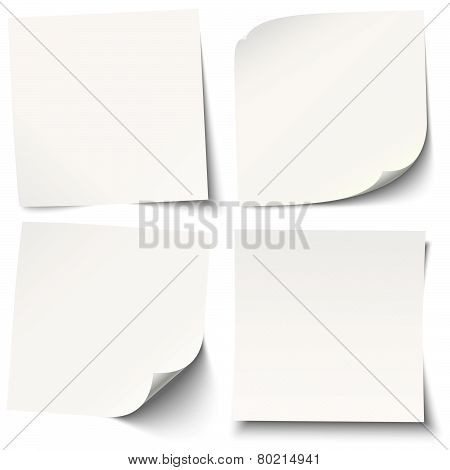 White Sticky Notes With Different Shadows