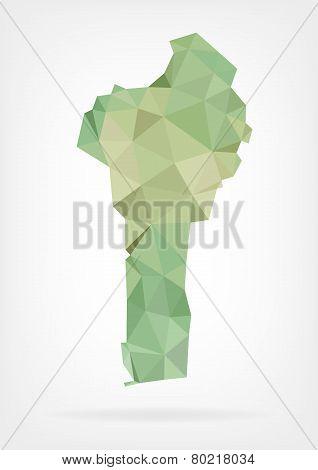 Low Poly map of Benin