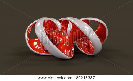 Endless Twisted Torus Jewel - 3D Concept Illustration
