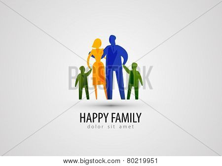 family vector logo design template. parents or people icon.