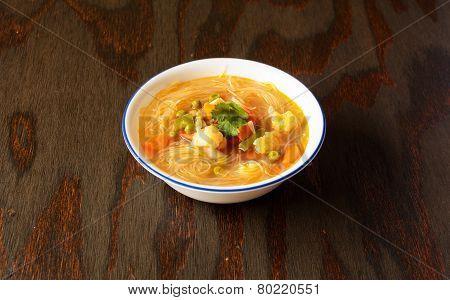 Vegetarian Thukpa a noodle soup