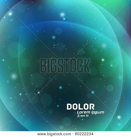 Colorful smooth twist light lines background with lights and sparkles