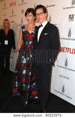 LOS ANGELES - JAN 11:  Sophie Hunter, Benedict Cumberbatch at the The Weinstein Company / Netflix Golden Globes After Party at a Beverly Hilton Adjacent on January 11, 2015 in Beverly Hills, CA