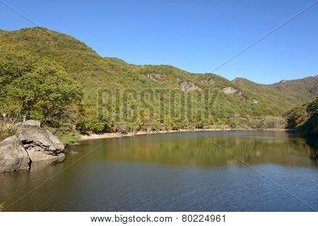 Jusanji Reservoir In Juwangsan National Park