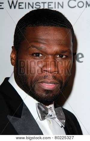 LOS ANGELES - JAN 11:  50 Cent at the The Weinstein Company / Netflix Golden Globes After Party at a Beverly Hilton Adjacent on January 11, 2015 in Beverly Hills, CA