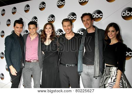 LOS ANGELES - JAN 14:  Marvel's Agent Carter Cast at the ABC TCA Winter 2015 at a The Langham Huntington Hotel on January 14, 2015 in Pasadena, CA