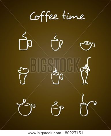 Cups And Coffee Pots.