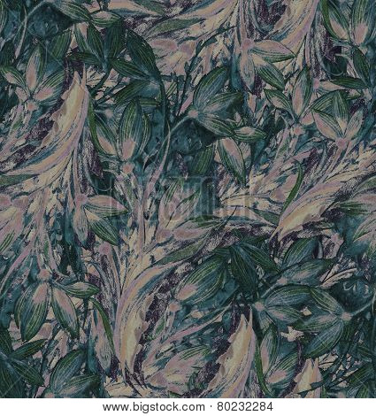 Vintage abstract floral elements